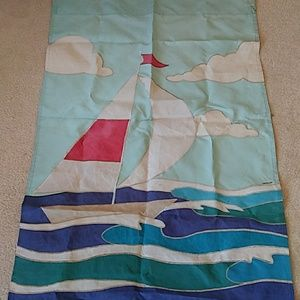 Sailboat Summer Season Outdoor Flag Banner